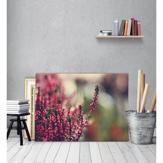 Πίνακας Καμβάς Αντανάκλαση Λουλουδιών