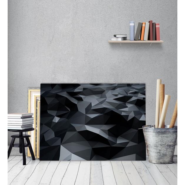 Πίνακας Καμβάς black Cubic -Μαύροι κύβοι