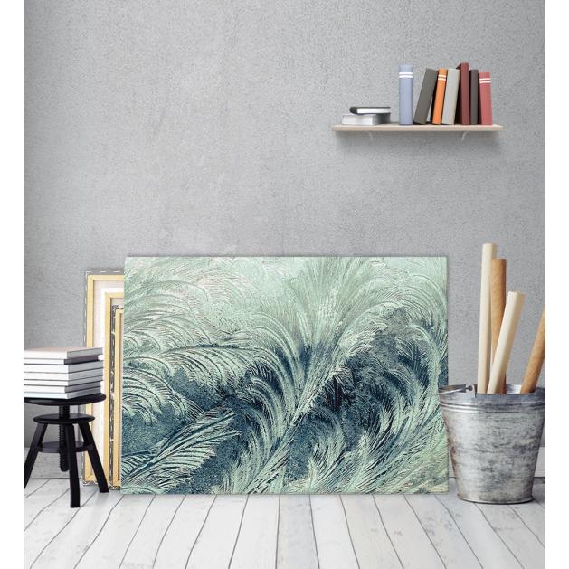 Μοντέρνος Πίνακας Καμβάς για σαλόνι Leaf Feather