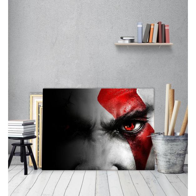 Πίνακας Καμβάς Red Eye Ασπρόμαυρο
