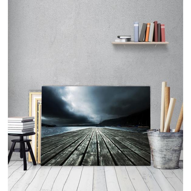 Πίνακας Καμβάς Ξύλινος Μονόδρομος Στη Θάλασσα