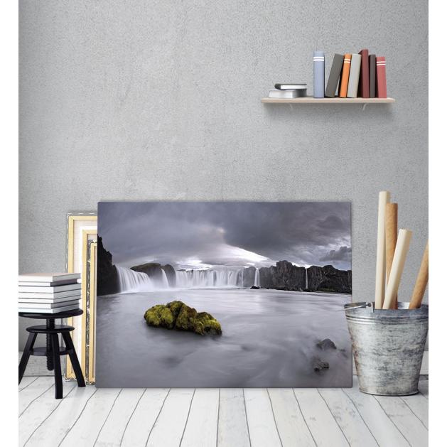 Πίνακας Καμβάς Mountain Water - Βουνό - καταράκτης - θάλλασα