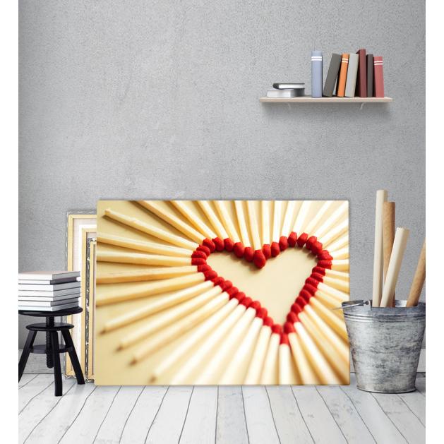 Πίνακας Καμβάς Σχέδιο Καρδιάς