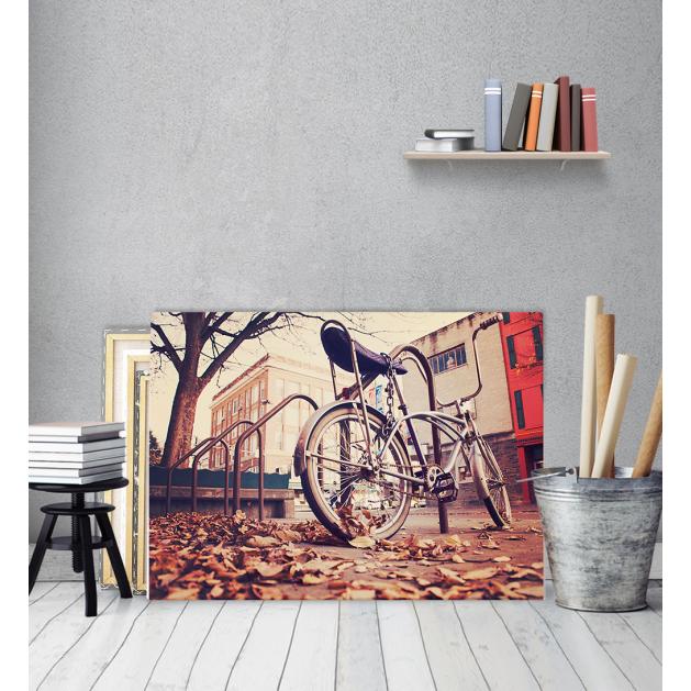 Πίνακας Καμβάς Autumn vintage Bike