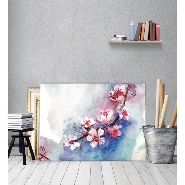 Πίνακας ζωγραφικής Καμβάς Watercolor Αμυγδαλιά
