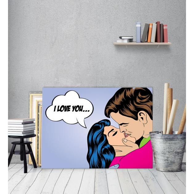 Πίνακας Καμβάς pop Art I Love You