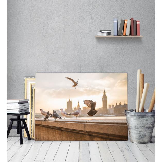 Πίνακας Καμβάς Πουλιά Θέα Λονδίνου