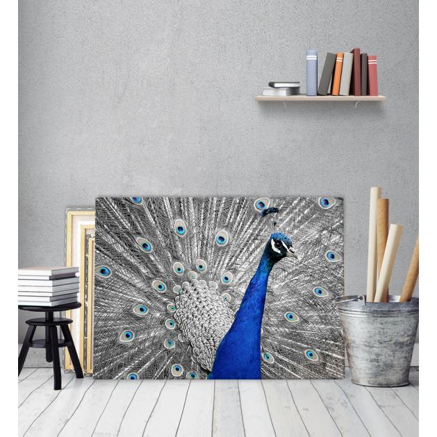 Πίνακας ζωγραφικής Καμβάς Μπλε Παγώνι