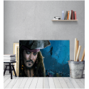 Πίνακας σε Καμβά Johnny Depp captain jack