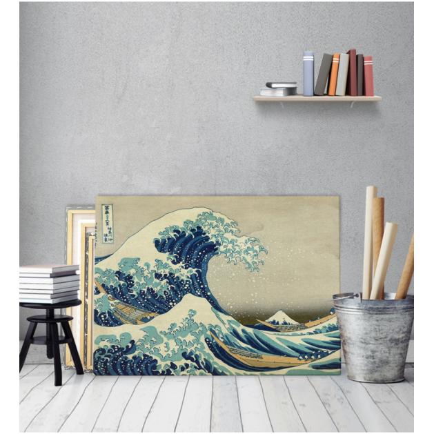 Πίνακας ζωγραφικής σε Καμβά  Great Wave - Hokusai