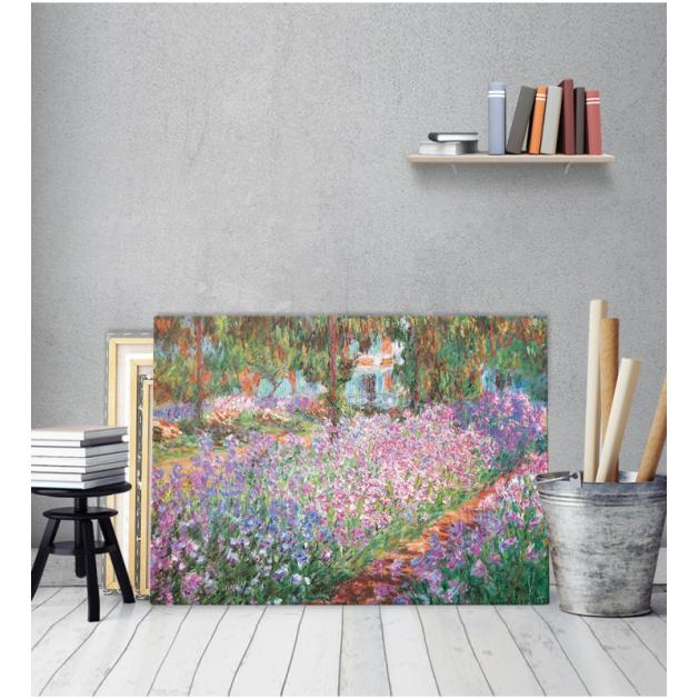 Πίνακας ζωγραφικής σε Καμβά Irises In Monet's Garden