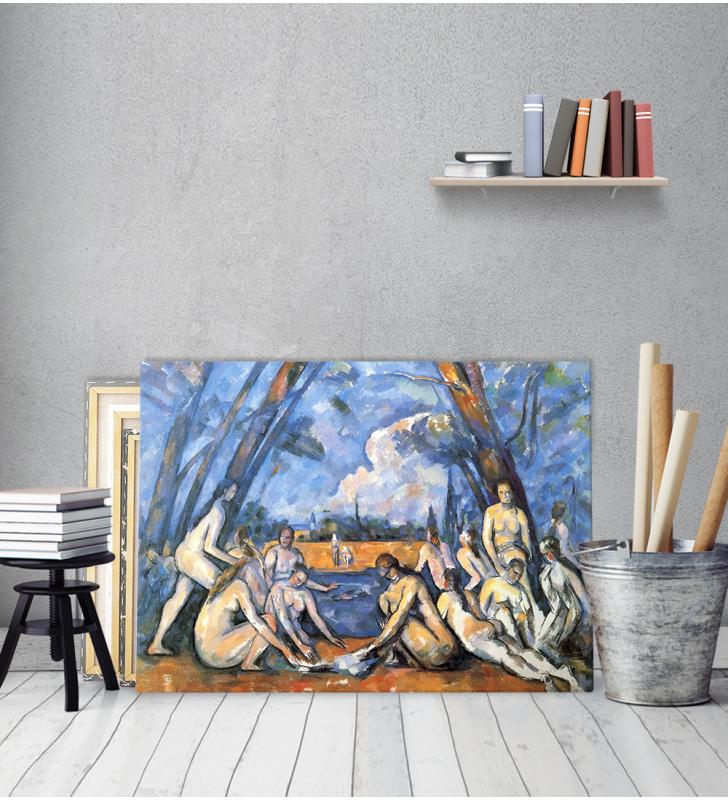 Πίνακας ζωγραφικής σε Καμβά Cezanne The Bathers