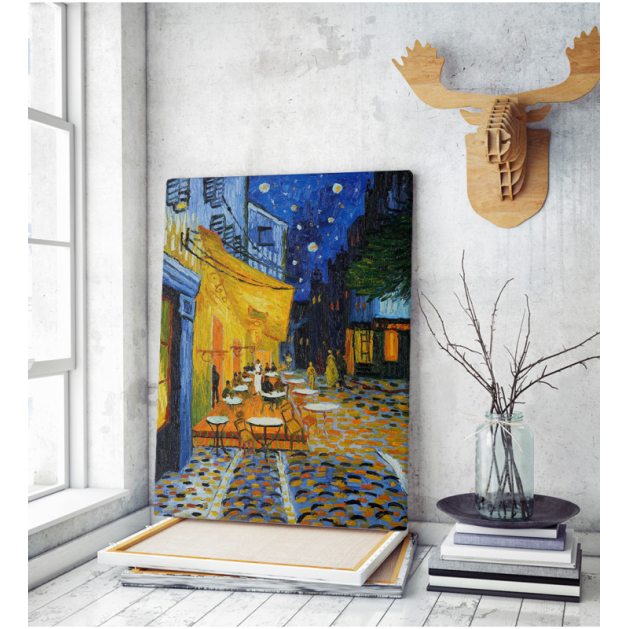 Πίνακας ζωγραφικής σε Καμβά Van Gogh Cafe Terrace At Night