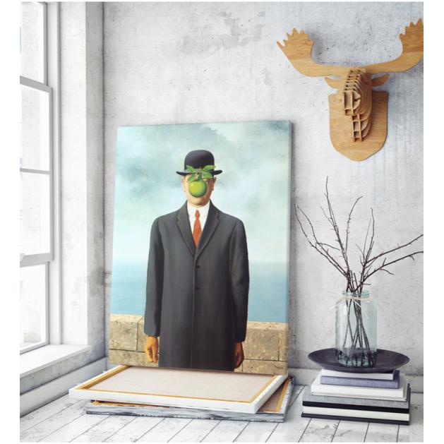 Πίνακας ζωγραφικής σε Καμβά a Magritte The Son Of Man
