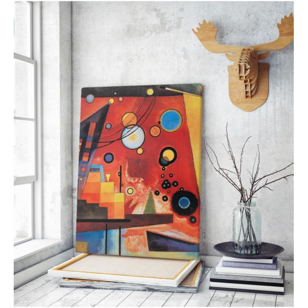 Πίνακας ζωγραφικής σε Καμβά Kandinsky Painting Modern Shapes