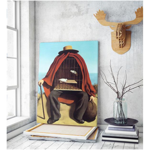 Πίνακας ζωγραφικής σε Καμβά Magritte Therapeutist