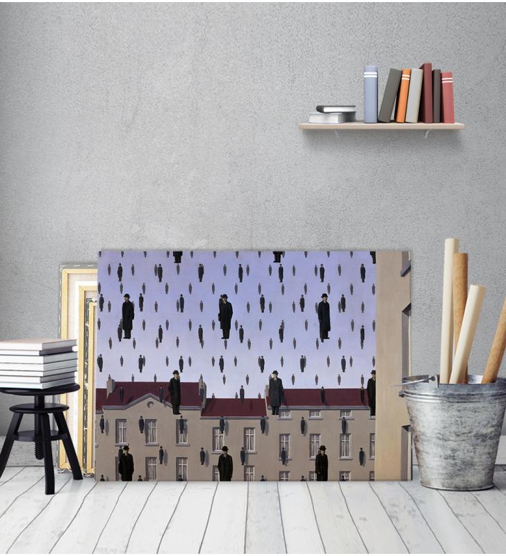 Πίνακας ζωγραφικής σε Καμβά Magritte Golconda