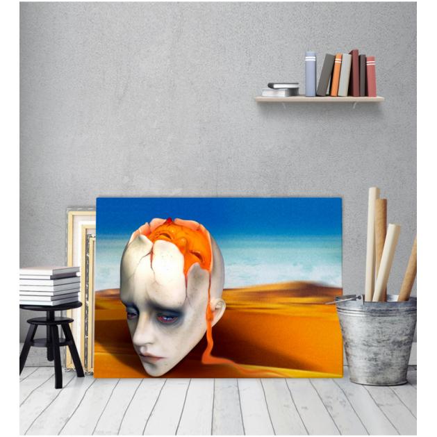 Πίνακας ζωγραφικής σε Καμβά Salvador Dali Head Sculpt