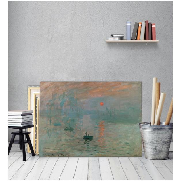 Πίνακας ζωγραφικής σε Καμβά Impression Sunrise Claude Monet