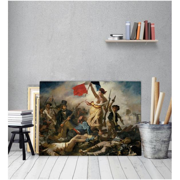 Πίνακας ζωγραφικής σε Καμβά Eugène Delacroix Liberty Leading the People