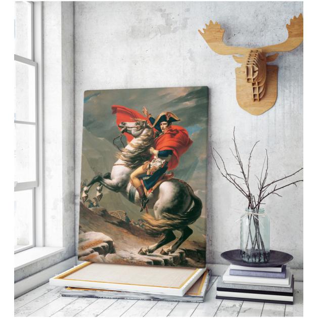 Πίνακας ζωγραφικής σε Καμβά Napoleon Crossing the Alps Jacques Louis David