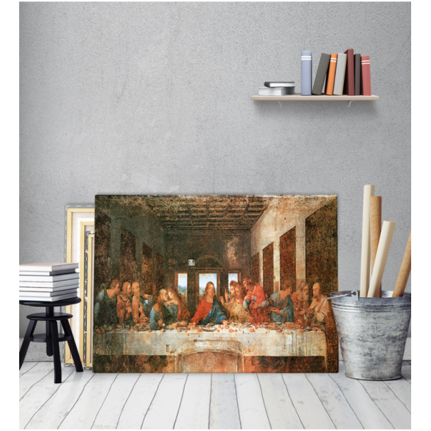 Πίνακας ζωγραφικής σε Καμβά Leonardo Da Vinci Ο Μυστικός Δείπνος