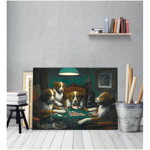 Πίνακας ζωγραφικής σε Καμβά Cassius Marcellus Coolidge Dogs playing poker