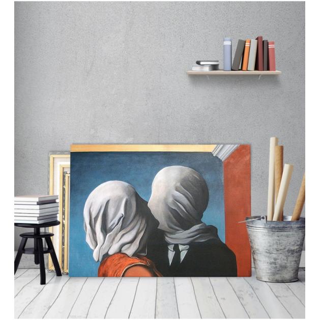 Πίνακας ζωγραφικής σε Καμβά The Lovers 2 Rene Magritte
