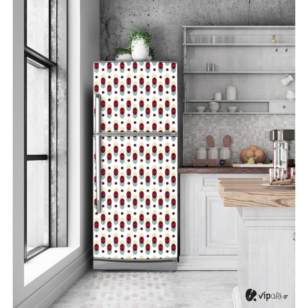 """Αυτοκόλλητο Ψυγείου με εκτύπωση """" Retro Style Cycles """""""