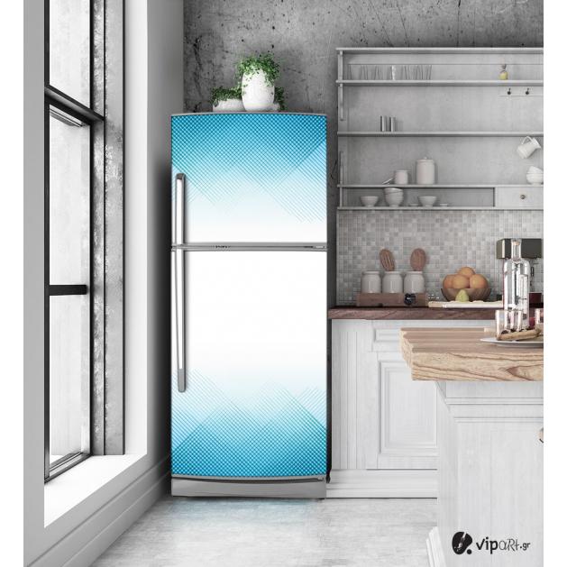 """Αυτοκόλλητο Ψυγείου με εκτύπωση """"Μπλε Γραμμές"""""""