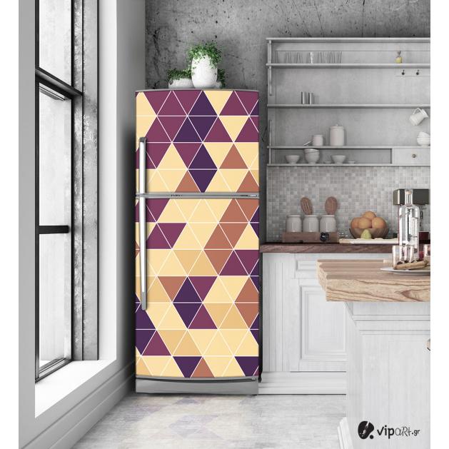 """Αυτοκόλλητο Ψυγείου με εκτύπωση """"Γεωμετρικά Τρίγωνα"""""""