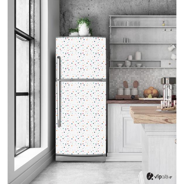 """Αυτοκόλλητο Ψυγείου με εκτύπωση Πολύχρωμες κουκίδες -  """"Colorful Dots"""""""