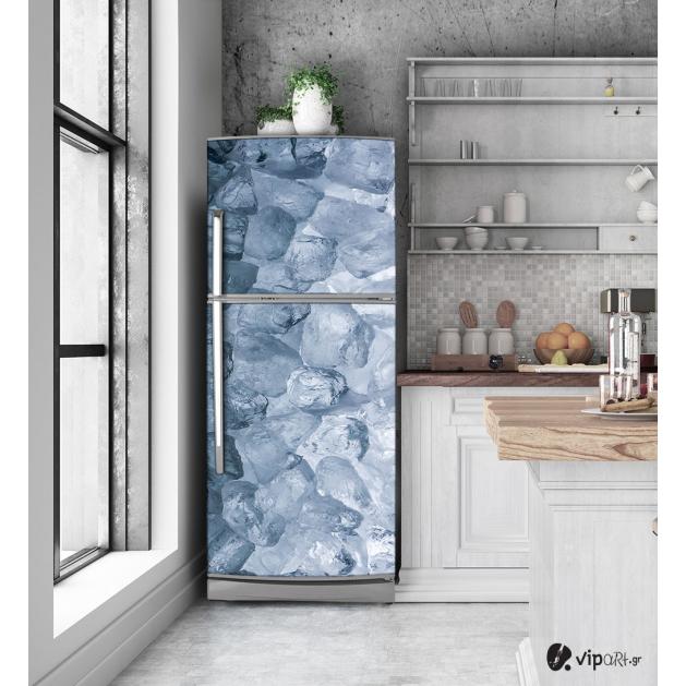 """Αυτοκόλλητο Ψυγείου με εκτύπωση """"Παγάκια"""""""