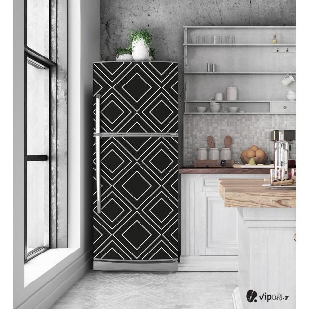 """Αυτοκόλλητο Ψυγείου με εκτύπωση μαύρο - άσπρο """"Black & White"""""""