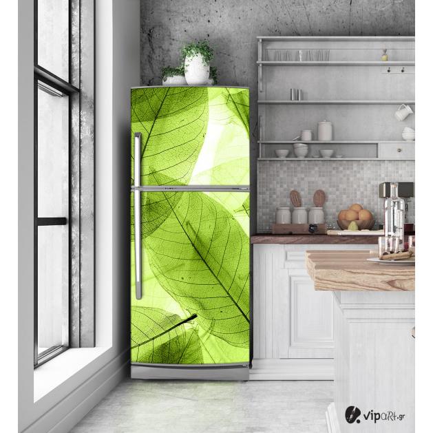 """Αυτοκόλλητο Ψυγείου Πράσινα Φύλλα """"Leaves"""""""