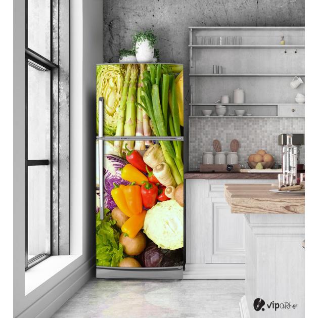 """Αυτοκόλλητο Ψυγείου με εκτύπωση """"Λαχανικά"""""""