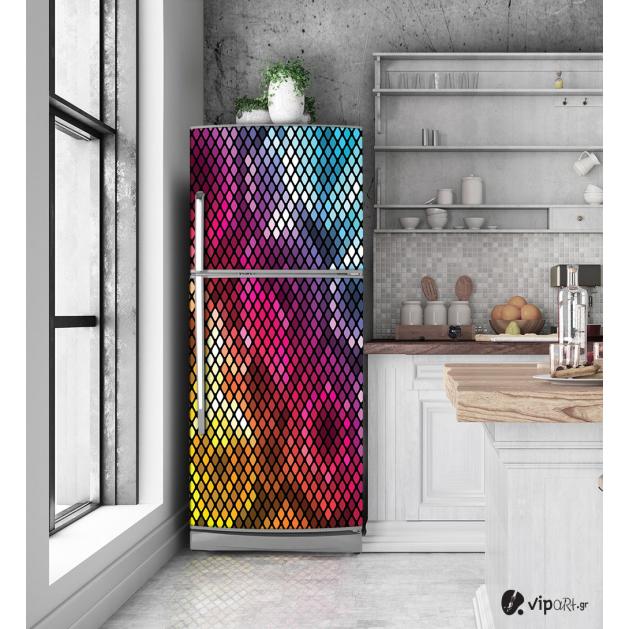 """Αυτοκόλλητο Ψυγείου με εκτύπωση """"Pixel Design"""""""