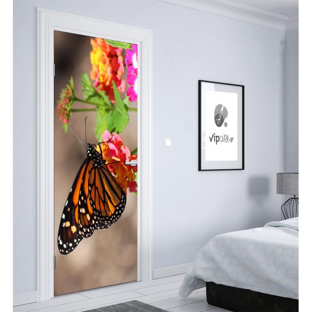 """Αυτοκόλλητο Πόρτας με εκτύπωση """"Πεταλούδα"""""""