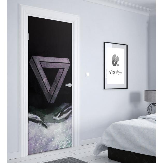 """Αυτοκόλλητο Πόρτας με εκτύπωση """"Strange Triangle"""""""