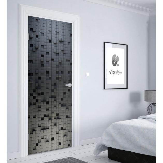 """Αυτοκόλλητο Πόρτας με εκτύπωση """"Broken Pixels"""""""