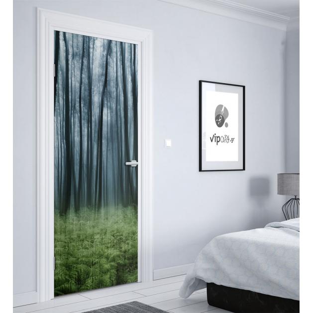 """Αυτοκόλλητο Πόρτας με εκτύπωση """"Δάσος"""""""