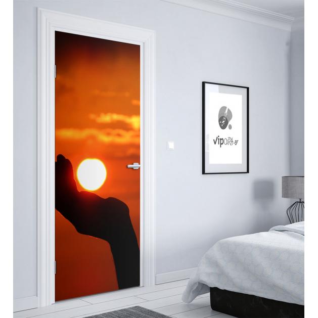 """Αυτοκόλλητο Πόρτας με εκτύπωση """"Ηλιοβασίλεμα"""""""