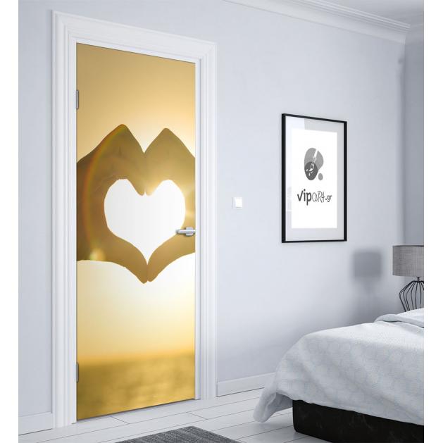 """Αυτοκόλλητο Πόρτας με εκτύπωση """"Καρδιά"""""""