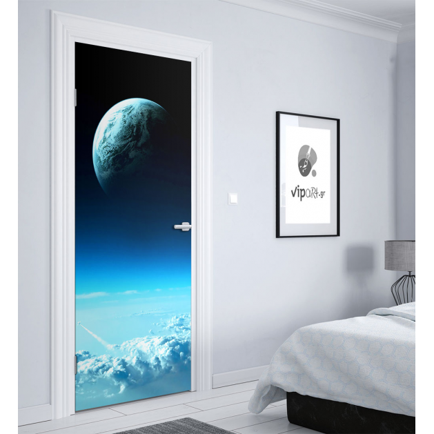 """Αυτοκόλλητο Πόρτας με εκτύπωση πλανήτης """"Earth"""""""