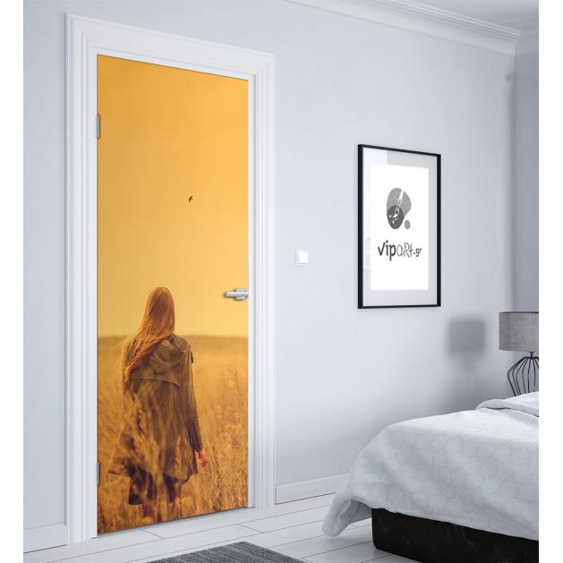 """Αυτοκόλλητο Πόρτας με εκτύπωση """"Lonely Girl"""""""