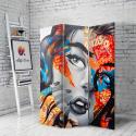Διακοσμητικό Παραβάν Σε Καμβά με wall art graffiti woman