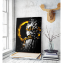 Πίνακας σε Καμβά A mystical Queen with black eyes, a Golden crown on her head
