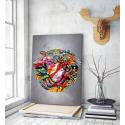 Πίνακας σε Καμβά με Wall art graffiti Μέδουσα Versace
