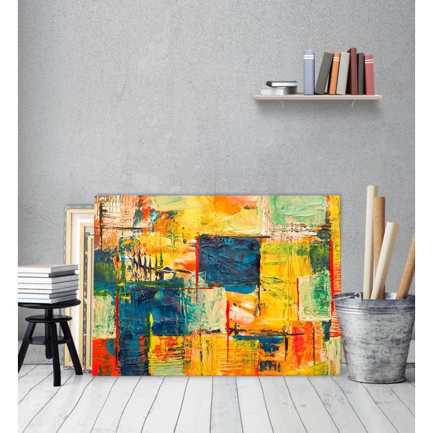 Πίνακας ζωγραφικής σε Καμβά με Αφηρημένα σχέδια