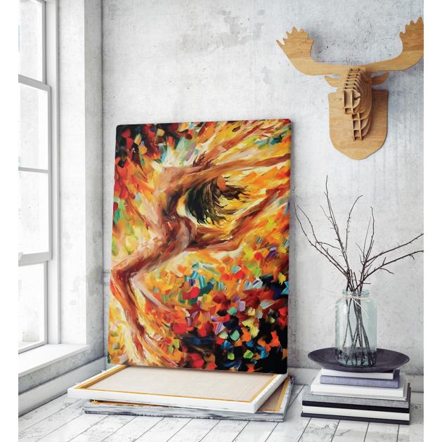 Πίνακας ζωγραφικής σε Καμβά με γυναίκα γυμνή χορός